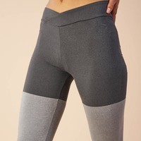 Gymshark TwoTone Leggings - Black Marl/Charcoal Marl