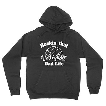 Rocking that volleyball dad life, gift for dad, daddy sweater, dad  hoodie