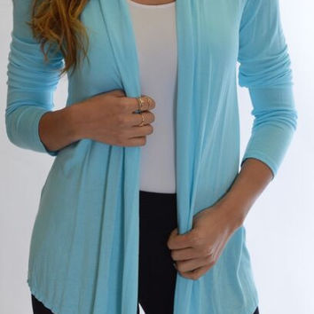 Women's Flyway Sky Blue Cardigan