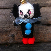 Pennywise The Clown Voodoo String Doll Funny Keyring Keychain Key Ring Key Chain Bag Car