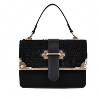 New Woolen Fashion Cross-body Bag Small Square Package