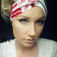 Detroit Red wings twist headband