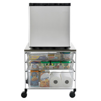 The Container Store > Platinum elfa Mesh Compact Fridge Cart