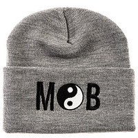 The Yin Yang Beanie in Gray