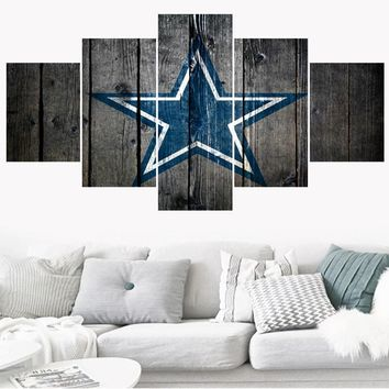 Rugby Football Dallas Cowboys Team Paintings Wall Home Decor Picture Canvas Painting Calligraphy For Living Room