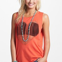 Soprano Shredded Heart Muscle Tank (Juniors) | Nordstrom