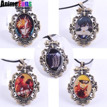 Cool Attack on Titan Anime One Piece Fairy Tail Black Butler Bleach Fairy Tail Death Note Naruto  Game League of Legends Logo Necklace AT_90_11