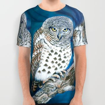Owl All Over Print Shirt by Azure Avenue
