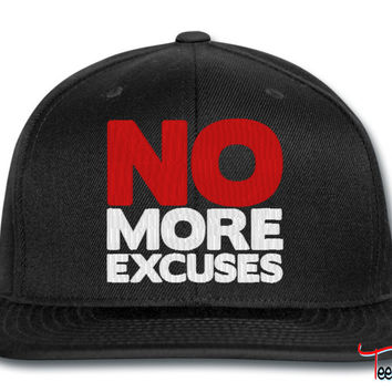 no more excuses snapback
