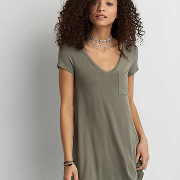 AEO Cross-Back Dress, Olive