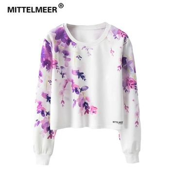 KPOP BTS Bangtan Boys Army MITTELMEER 2019  Harajuku Kawaii Sweatshirt Woman girls crop top Cartoon Flower Flamingo printing short Sweatshirts Hoodies AT_89_10