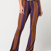 PATRONS OF PEACE Kaleidoscope Print Womens Flared Pants | Pants & Joggers