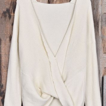 Cupshe Warm Sunshine Cross Sweater