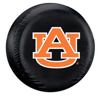 Auburn Tigers NCAA Spare Tire Cover (Large) (Black)