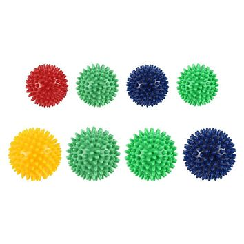 New 6cm 8cm Durable PVC Spiky Massage Ball Trigger Point Sport Fitness Hand Foot Pain Relief Plantar Fasciitis Reliever Hedgehog