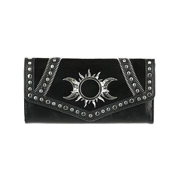 Restyle Wiccan Triple Goddess Wallet - Witchcraft Moon and Sun