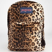 Jansport High Stakes Backpack Black/Beige Plush Cheetah One Size For Men 23732243601