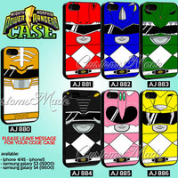 Power Rangers Mighty Morphin Case Collection - iPhone 4/4s/5 Case - Samsung Galaxy S2/S3/S4 Case - Black or White