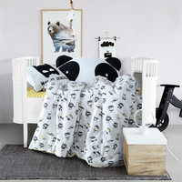 Crib bedding set 100% Cotton fashion cartoon print batman baby duvet/quilt/comforter cover pillowcase bedsheet 3pc sets