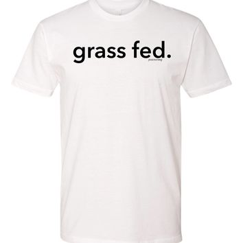 grass fed. tshirt - vegetarian, vegan, veggie lover,funny hipster tee - baggy fit - unisex tee - hippy - peace - retro - gift