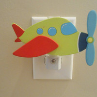 Airplane Night Light - Airplane Decor - It's A Boy - Nursery Decor - Airplane - Night Light - Boy Decor