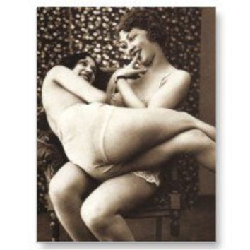 Vintage Naughty French Pin Up Girl Photograph Postcards