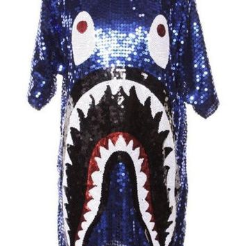 Sequin Summer Shark Dress