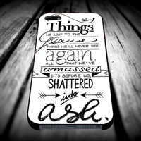 Bastille Lyric Art iPhone 4/4s/5/5s/5c/6/6 Plus Case, Samsung Galaxy S3/S4/S5/Note 3/4 Case, iPod 4/5 Case, HtC One M7 M8 and Nexus Case **