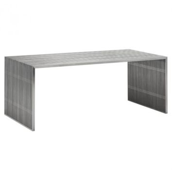 Novel Dining Table | Brushed Stainless Steel