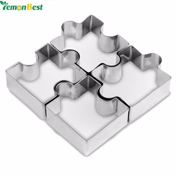 4 pc Set Puzzle Piece Cookie Cutter