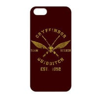 Retro Classic Harry Potter Gryffindor Quidditch Print Hard Cover Case for iphone 4/4s/5/5s/5c/6/6s/6plus/6s plus