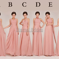 2013 Hot Sale Cheap Bridesmaide Dress/V neckline/Strapless/ Sweetheart/Hater/ Assembly/On shoulder/Chiffon Floor Length Bridesmaid dresses