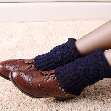 Knit Leg Warmers for Women Crochet Gaiters Patterned Boots Leg Warmers Knee Socks