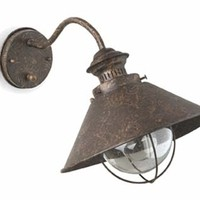Rustic outdoor wall lamp
