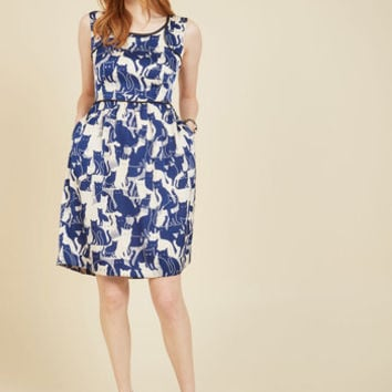 It's a Fine Feline A-Line Dress | Mod Retro Vintage Dresses | ModCloth.com