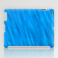 Streaky Blue Lines Abstract iPad Case by Tigerlynx