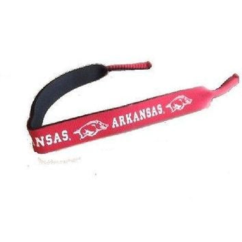 Arkansas Razorbacks Neoprene Sunglass Eyeglass Strap Holder Croakie
