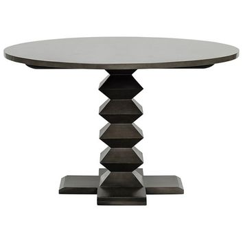 """Symetric Base Dining Table, 48"""", Pale"""