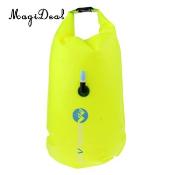 Swimming Pool beach MagiDeal Lightweight High Visibility Inflatable Dry Bag Open Water Swim Float Tow Bag Fluo for Swimming Triathlon AccessoriesSwimming Pool beach KO_14_1