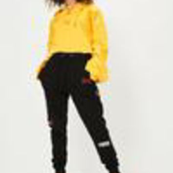 Missguided - Black Multi Logo Badge Joggers