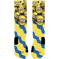 Despicable Me Minions Custom Nike Elite Socks (Large 8-12)