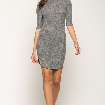 Marled Ribbed Tee Dress