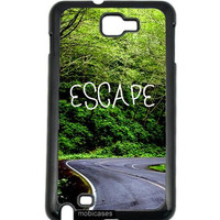 Hipster Quote - Escape Woods Road Samsung Galaxy Note 2 Note II N7100 Case - For Samsung Galaxy Note 2 Note II N7100