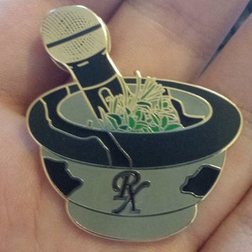 """Nahko and Medicine for the People inspired """"Musical Medicine"""" Heady hat lapel pin"""