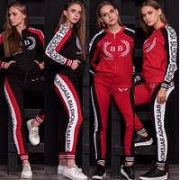 balenciaga Fashion Letter Long Sleeve Shirt Sweater Pants Sweatpants Set Two-Piece Sportswear