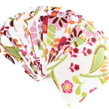 Price Tag Gift Wrap Floral Colorful Set of 27