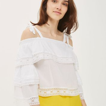 Lace Trim Layer Sun Top | Topshop