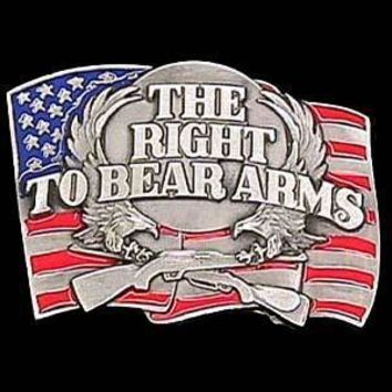 Sports Accessories - Right to Bear Arms Enameled Belt Buckle