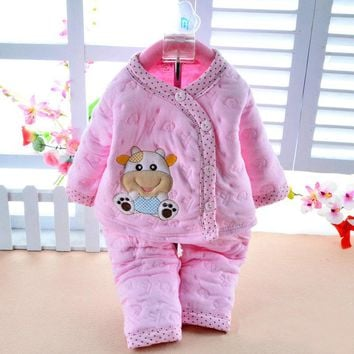 Retail baby girl clothes autumn & winter baby clothing long sleeve baby kleding girls clothes winter boy clothes set