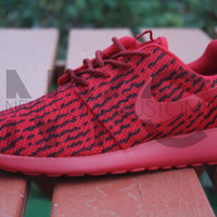 Nike Roshe Run One Red October Yeezy Low 350 Boost Custom Men Adidas